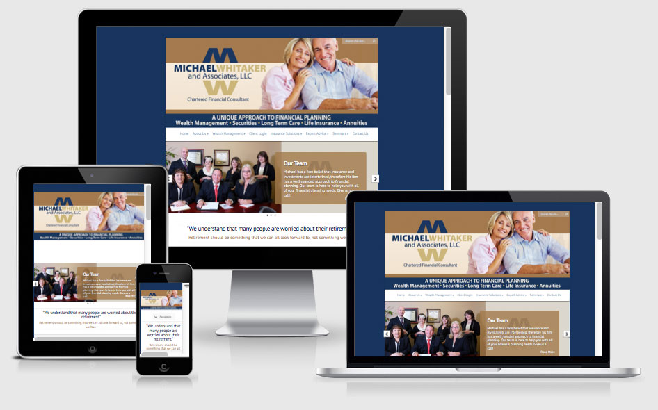 Responsive Design Website for a Financial Services Company