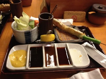 Ready for Action: Place setting at Tatsukichi.