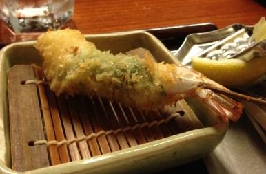 Shrimp with shizo leaf