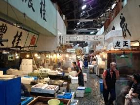 Another shot of Tsukiji's wholesale fish market