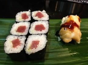 Maki sushi, broiled fish with sauce (at Iwasa Sushi)