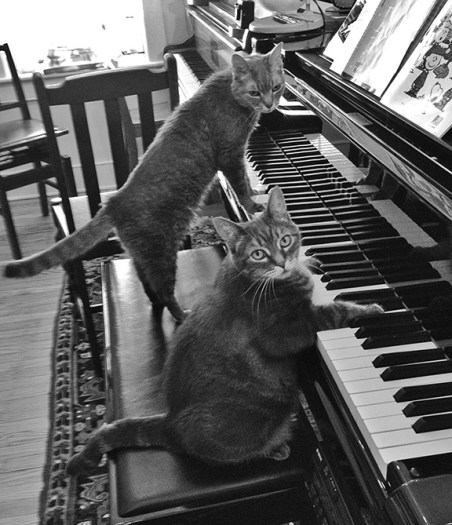 Gabby & Nora At Piano