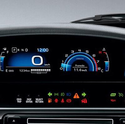"""Tablero deportivo   Con panel digital TFT (Thin Film Transistor) de 4,2"""" que muestra información de la marcha del vehículo, para mayor visibilidad tanto de día como de noche."""