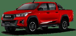 Toyota Hilux rojo metalizado