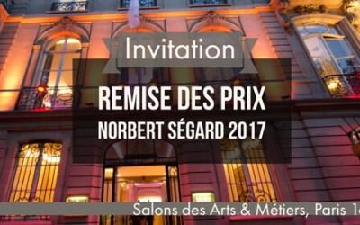 Cérémonie des Prix Norbert Ségard 2017