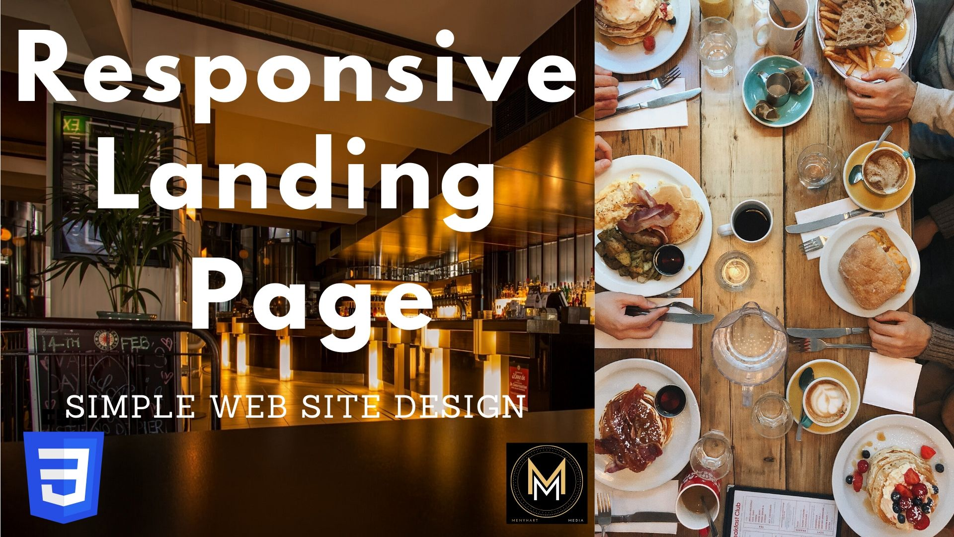 How to create a Responsive Web Site Web Page using HTML CSS - Restaurant Landing Page_data