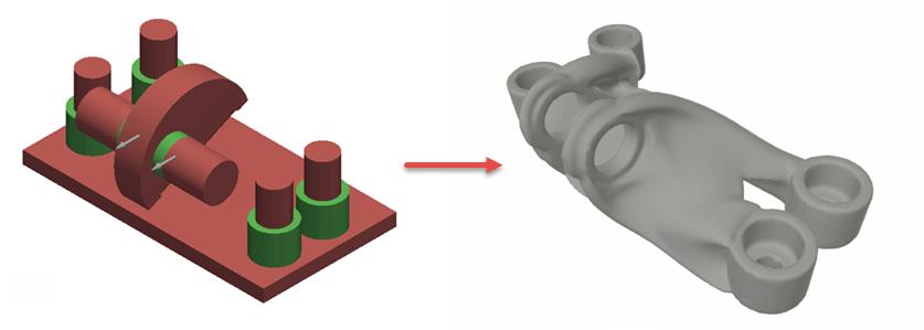 GE bracket generative design Fusion 360