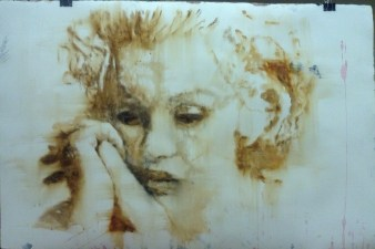4 NorbertWaysberg,I loved you, water color on paper, 40 by 60