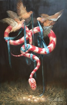 Love Protects by Kathryn Penk, oil