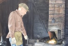 Coloma Blacksmith acrylic painting by Diana Licon