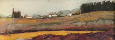"Crop of pastel landscape ""Elkhorn Slough North"" by Deborah Hill"
