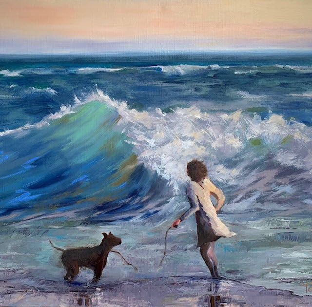 Sneaker Wave by Tamsen Armstrong, oil on linen