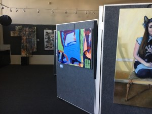 image of Sac Fine Arts Gallery with Bold Expressions 2021 hung!