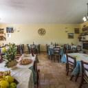Il ristorante dell'agriturismo Monte Veletta