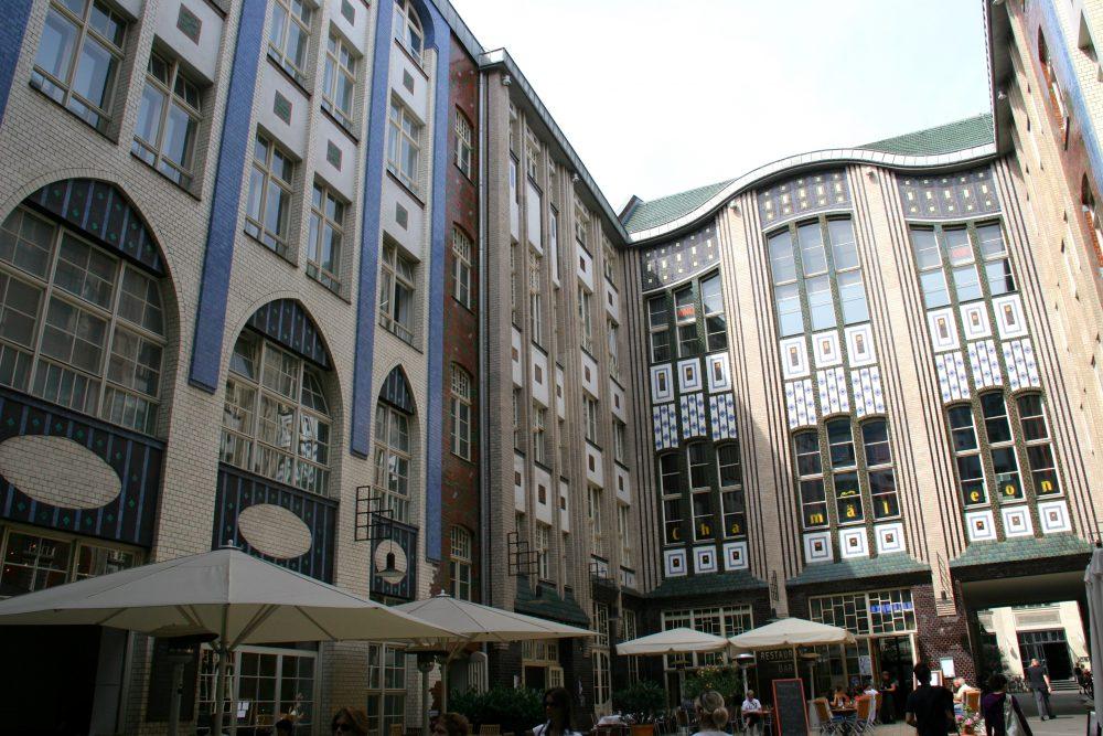 Berlin, les Hackesche Höfe font partie de l'ancien quartier des granges