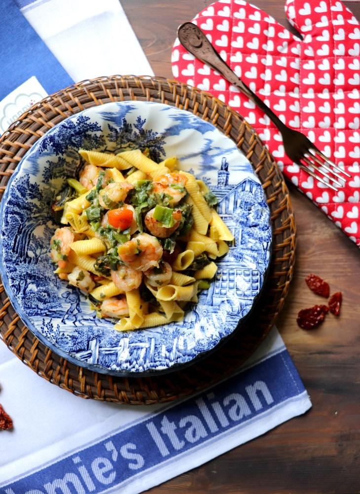 ricetta-garganelli-e-gamberi-al-kumquat