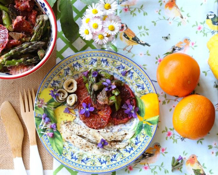 carpaccio di frutta e asparagi