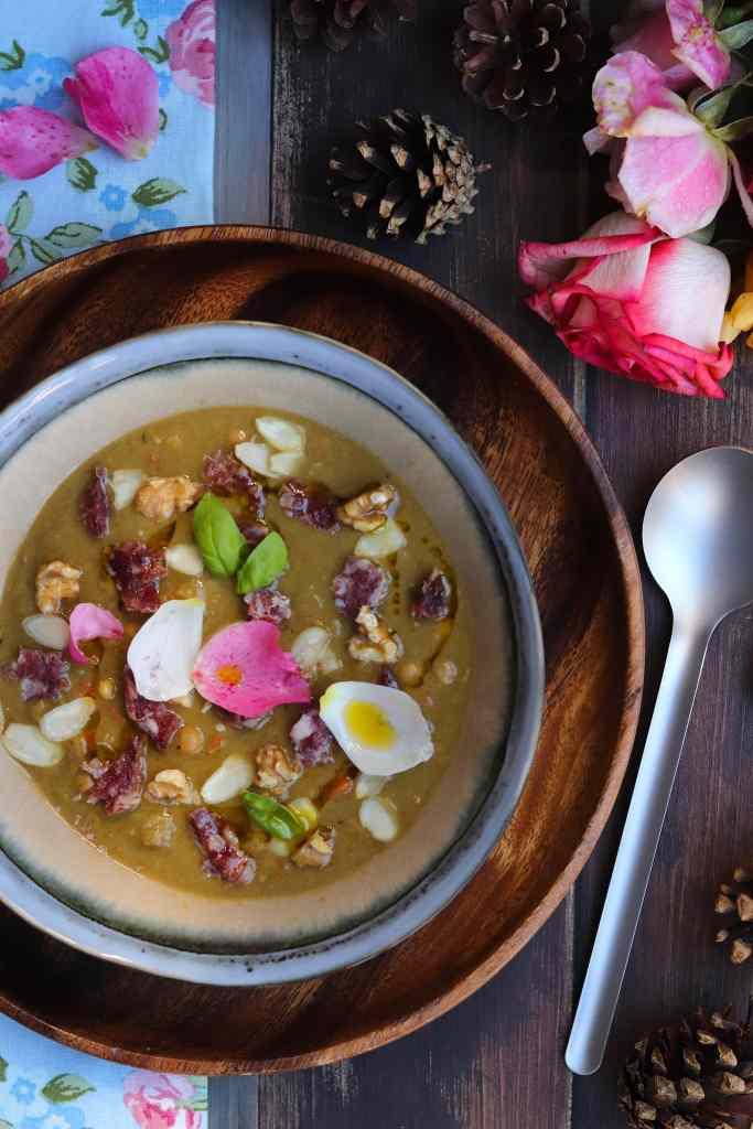 zuppa con salame di cinghiale