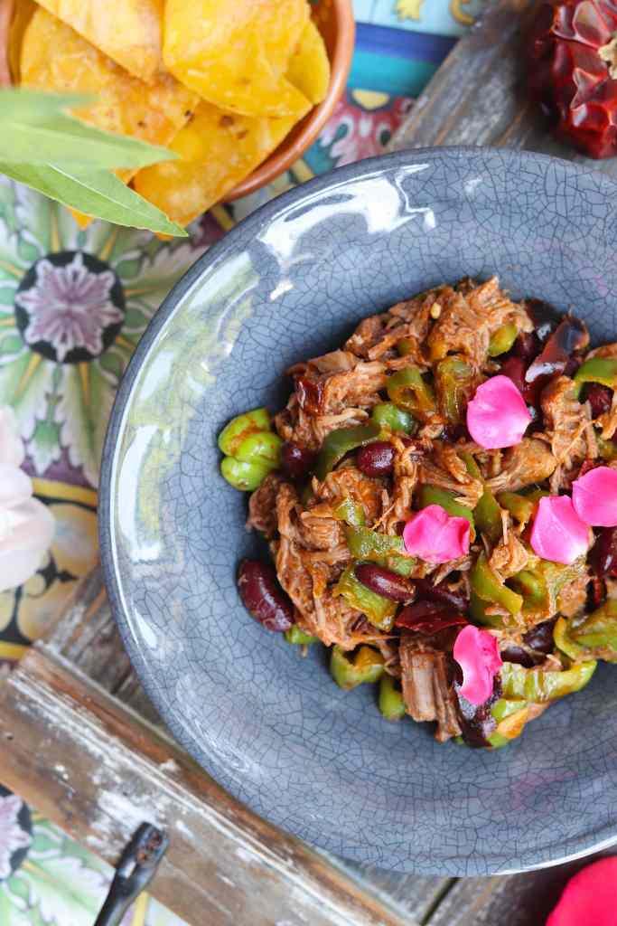 piatto messicano con pulled pork