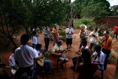 Magnificent cultural exchange in Bolivia, visiting local music education organisation SICOR.