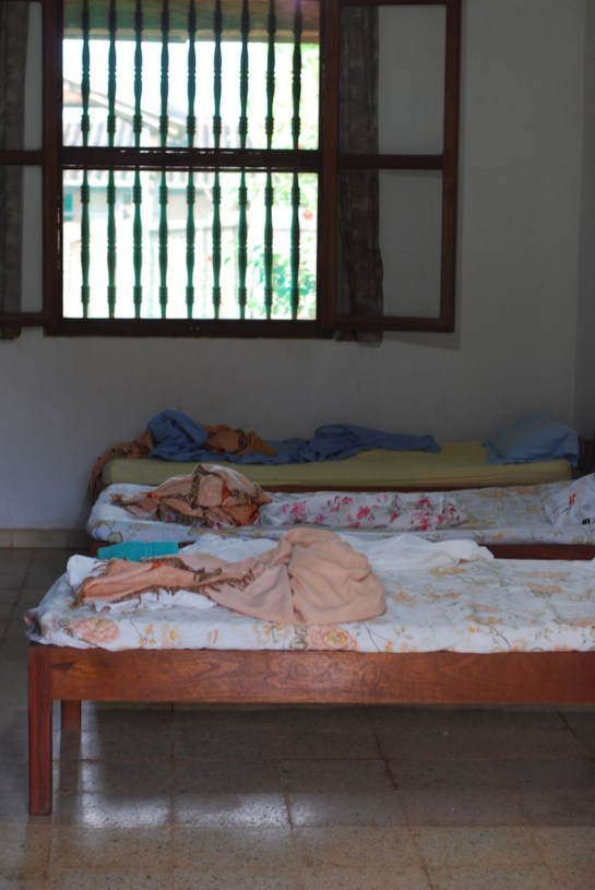 Modest but warm-hearted accommodation at the convent. This is the trumpets ward.