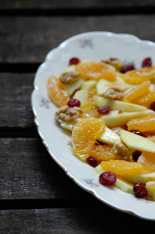 Fruit salad is often called himmelsk lapskaus (heavenly stew) in Norwegian