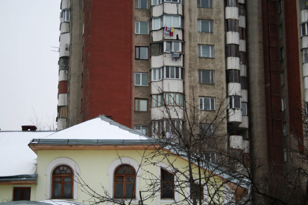 Apartment buildings in Chisinau, Moldova