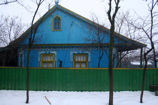 Colourful house in the countryside, Moldova