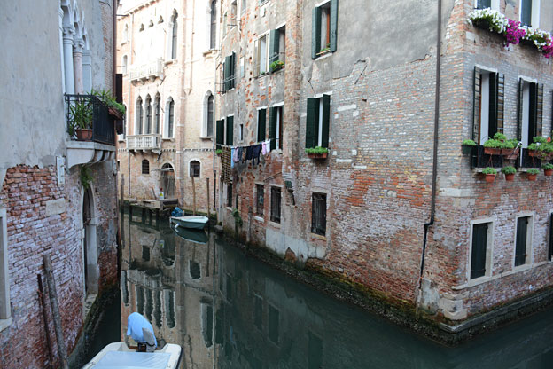 Houses along the canal in Cannaregio