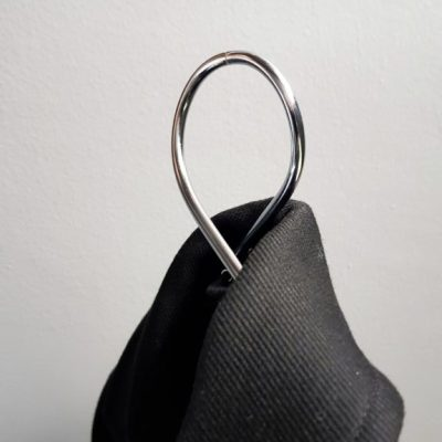 Loop It hanger chrome Nordic Function coat classic stylish elegant design bøjle jakke frakke unik drejet