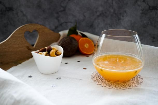 A Festive Cocktail with a Citrus Zing