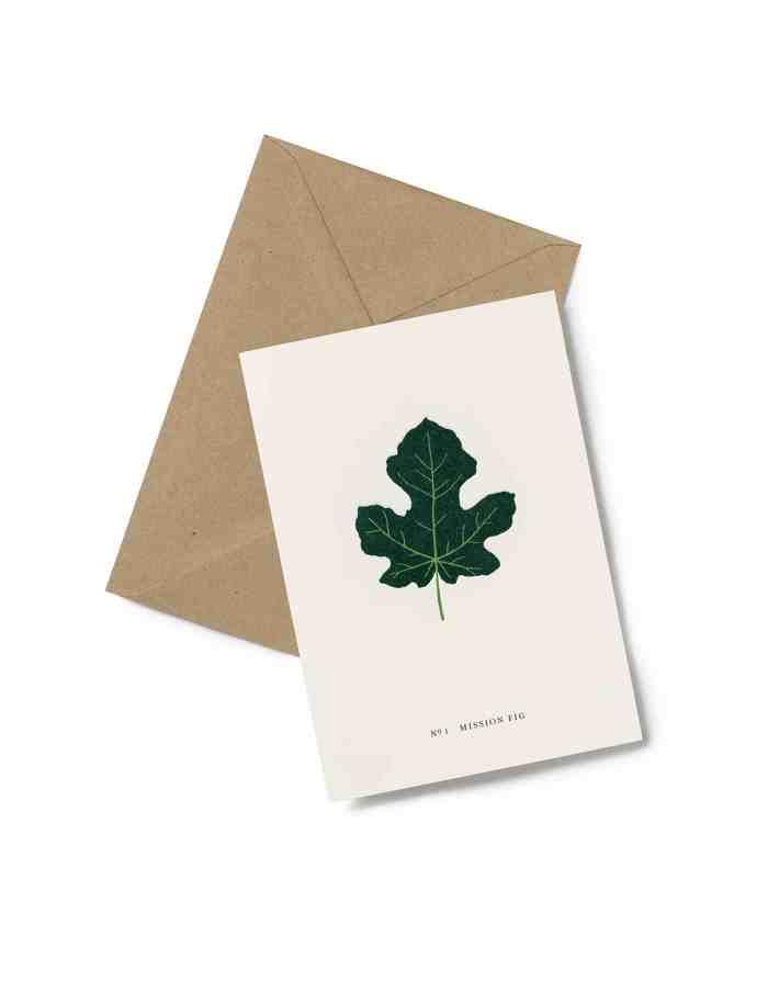 Kartotek Fig Leaf Greeting Card