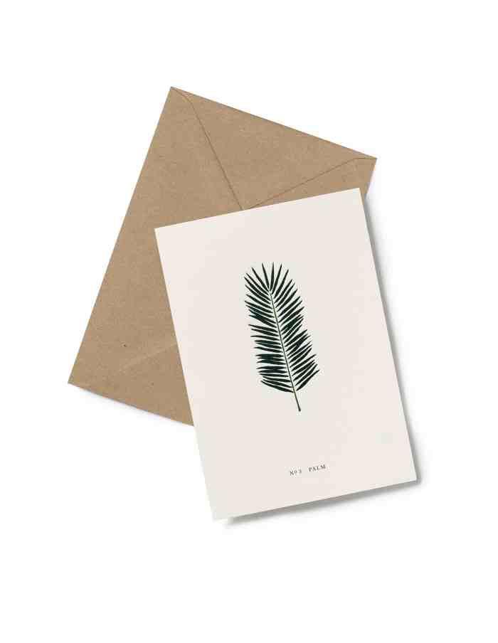 Kartotek 'No3 PALM' Greeting Card
