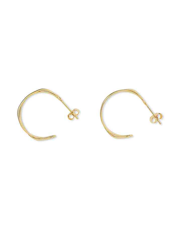 Gold Double Twist Hoop Earrings