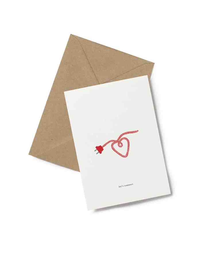 Kartotek 'let's connect' Greeting Card