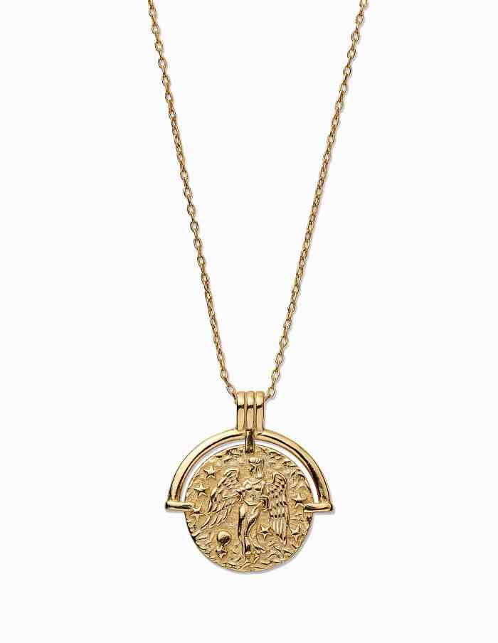 Gold Virgo Zodiac Necklace