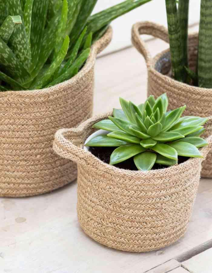 Large Jute Plant Pot, Jute