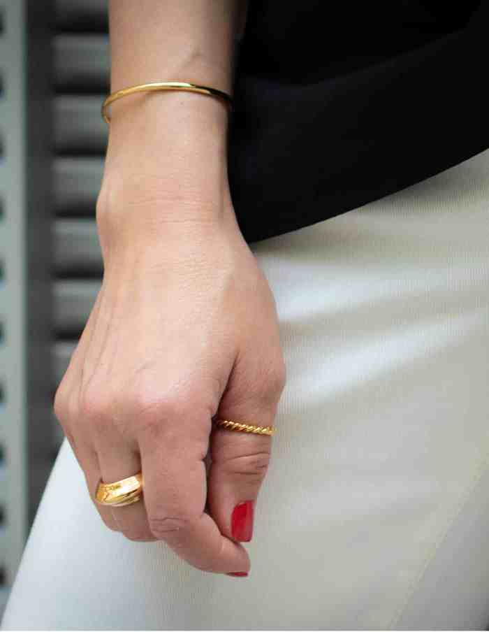 Simple Gold Cuff Bangle, Forever Lasting