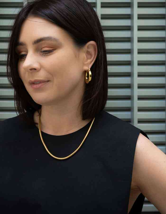 Classic Gold Bold Hoop Earrings, Forever Lasting