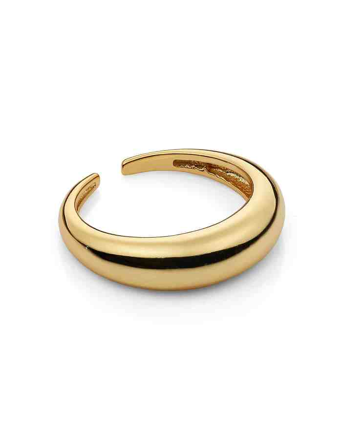 Gold Adjustable Small Dome Ring