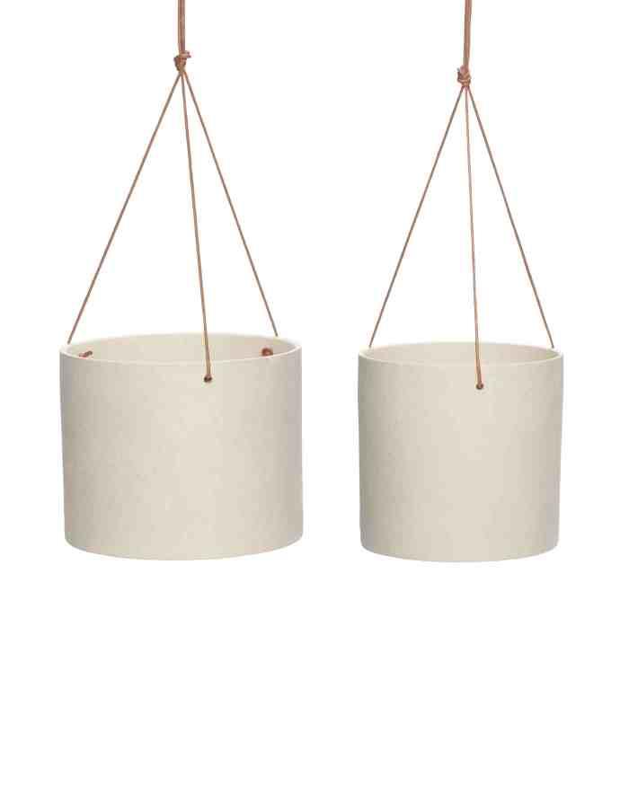 Ceramic Hanging Plant Pot Set, Hübsch