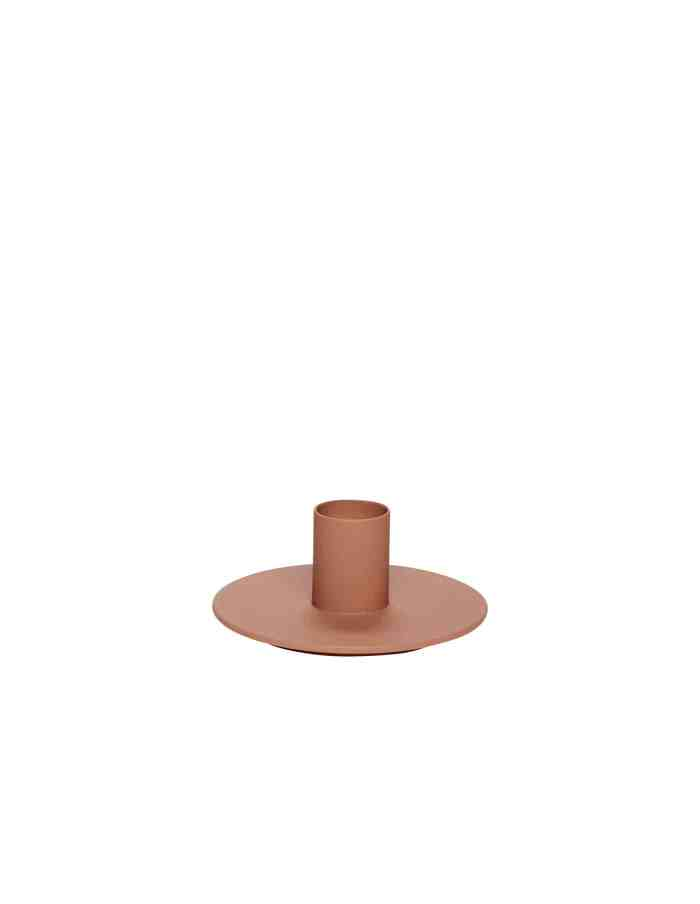 Peach Metal Candle Stand, Hübsch