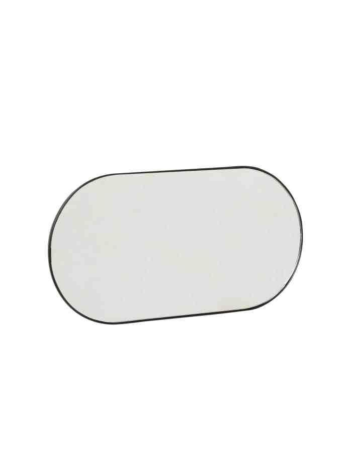 Oval Mirror with Hooks, Hübsch