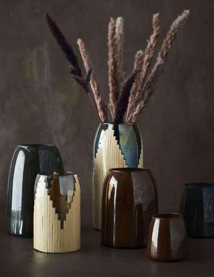 Madam Stoltz Brown Glass Vase