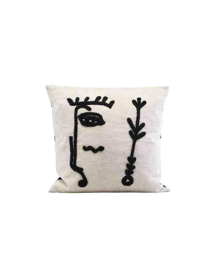 Ingo Abstract Linen Cushion , House Doctor