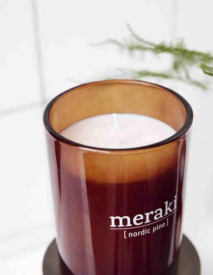 Small Nordic Pine Scented Candle, Meraki