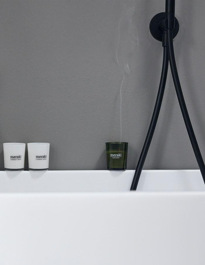 Small Green Herbal Scented Candle, Meraki