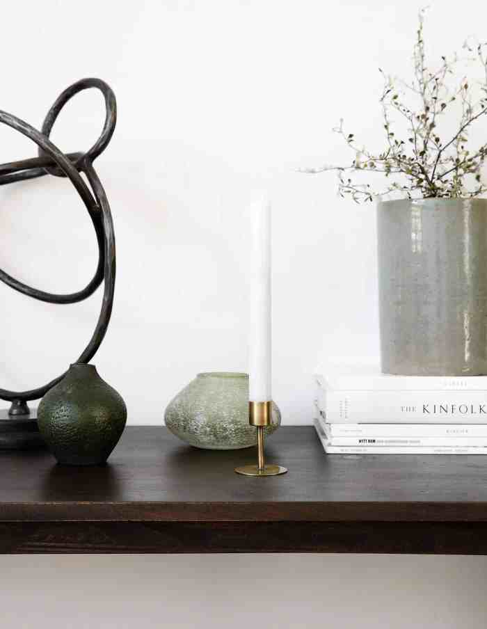 Small Brass Candle Stand, House Doctor
