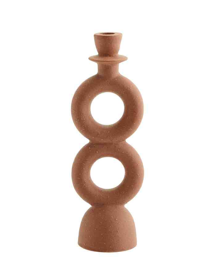 Geometric Stoneware Candle Holder, Madam Stoltz