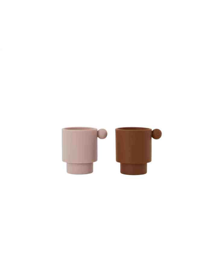 Caramel and Rose Inka Silicone Cup Set, OYOY